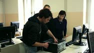 Stock Video Footage of older pupils in the IT class