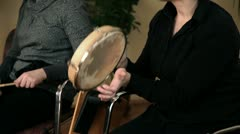 Woman playing a new song Stock Footage