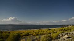 Mono Lake 43 Navy Beach Tufas Clouds Stock Footage