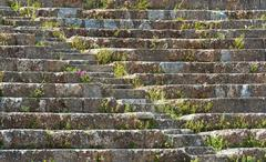 Turkey, Ephesus, Roman amphitheatre steps - stock photo