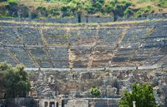 Turkey, Ephesus, Roman amphitheatre - stock photo
