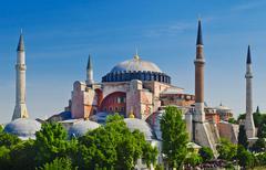 Turkey, Istanbul, Haghia Sophia Mosque Stock Photos