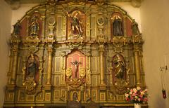 chapel altar details mission dolores saint francis de assis san francisco cal - stock photo