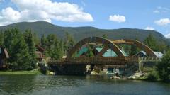 Wooden bridge Stock Footage