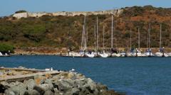 Sailboats at Horseshoe Bay Stock Footage