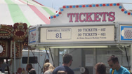 Stock Video Footage of Ticket Stand