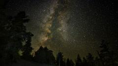 4K Perseid Meteor Shower Bristlecone Pine 01 Milky Way Time Lapse Stock Footage