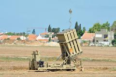 Israeli anti-missile system - iron dome Stock Photos