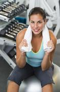 Stock Photo of Portrait of woman in gym