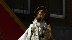 Saint Anthony Feast Closeup Stock Footage