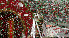 Saint Anthony Feast Confetti Stock Footage