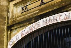 USA, South Carolina, Charleston, Close up of gate of old slave market Stock Photos