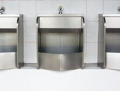 Stainless urinals Stock Photos