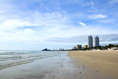 hua-hin beach, thailand. - stock photo