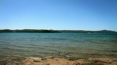 Panoramic shot of the adriatic coast - stock footage
