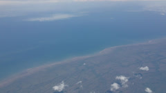 Flying Over the Hudson Bay in Canada Stock Video Stock Footage