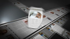 Editable News Paper with printing press - stock after effects