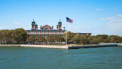 immigration museum on ellis island, new york - stock photo