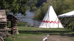 Aboriginal house Stock Footage