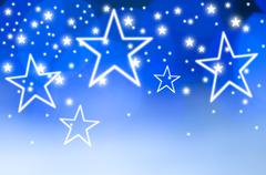 Stars on blue background, studio shot - stock illustration