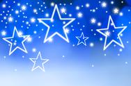 Stock Illustration of Stars on blue background, studio shot