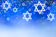 Stock Illustration of Stars of David against blue background, studio shot