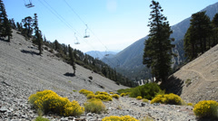 Mount Baldy Ski area Stock Footage