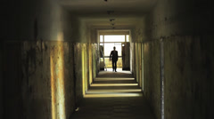 Man in Suit Walking in Tunnel Confident Hardship Concept HD Stock Footage
