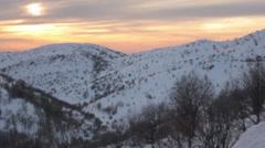Dramatic Sunset on Hermon Mountain Stock Footage
