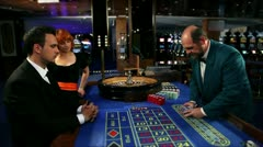 Winning at roulette Stock Footage