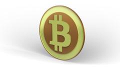 Bitcoin rotating Stock Footage