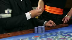 Gambling in Casino Bled Stock Footage