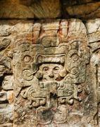 Mayan ruins, Carvings Stock Photos