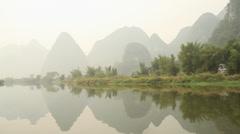 Amazing Yulong river scenery Stock Footage