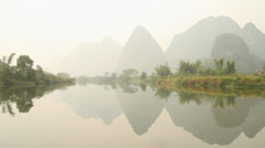 Amazing Yulong river scenery Stock Footage