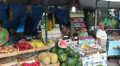 City market of food. Editorial HD Footage