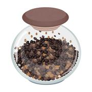 Various Kind of Coffee Beans in Glass Jar Stock Illustration