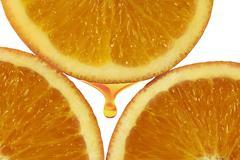 Orange pulp Stock Photos
