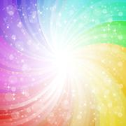 Abstract rainbow background with sparks and glares eps10 vector - stock illustration