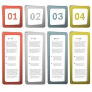 Option paper frames eps10 - stock illustration
