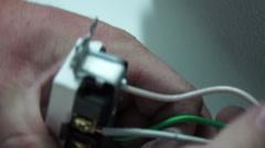 Plug instal tight Stock Footage