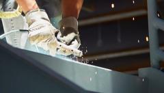Welding side super slow motion  - stock footage