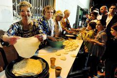 mimouna celebrations in israel - stock photo