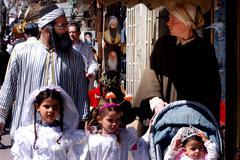 celebrating jewish holiday purim - stock photo