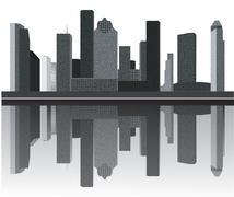 Houston skyline Stock Illustration