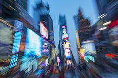 USA, New York, New York City, Times Square yöllä Kuvituskuvat