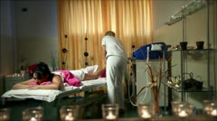 Shot of a special treatment for anticelulite massage Stock Footage