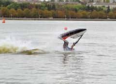 Jet ski on the lake Stock Photos