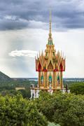 buddhist temple spire - stock photo