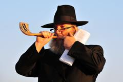 the jewish ritual - tashlich - stock photo